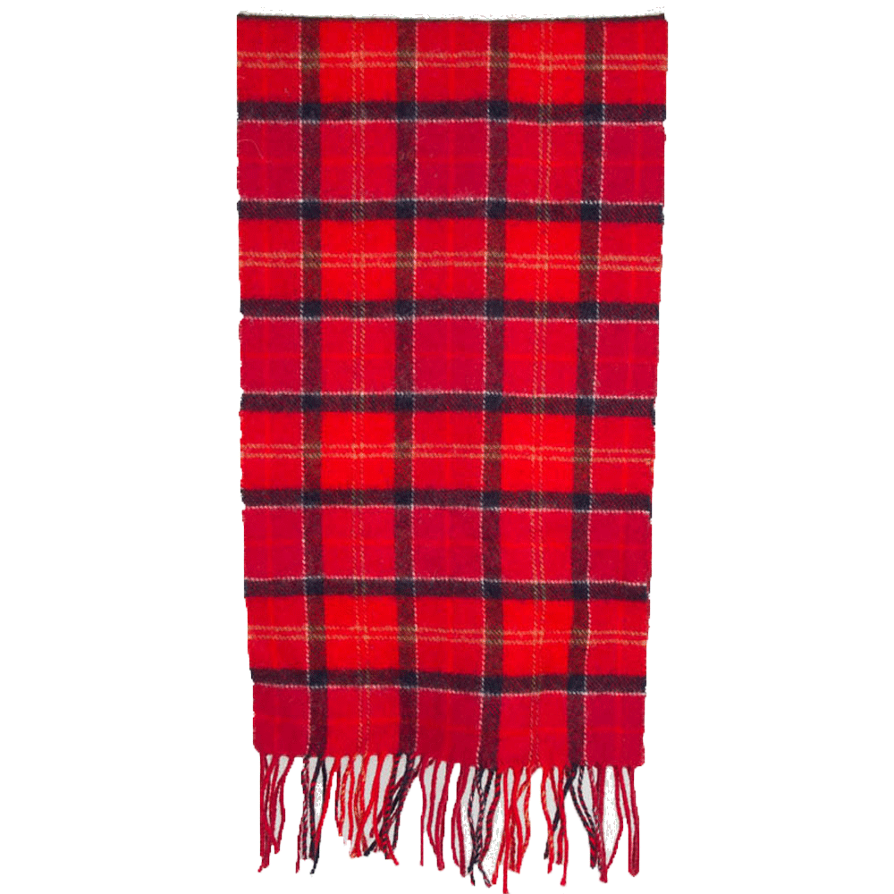 Tartan scarf lambswool cardinal