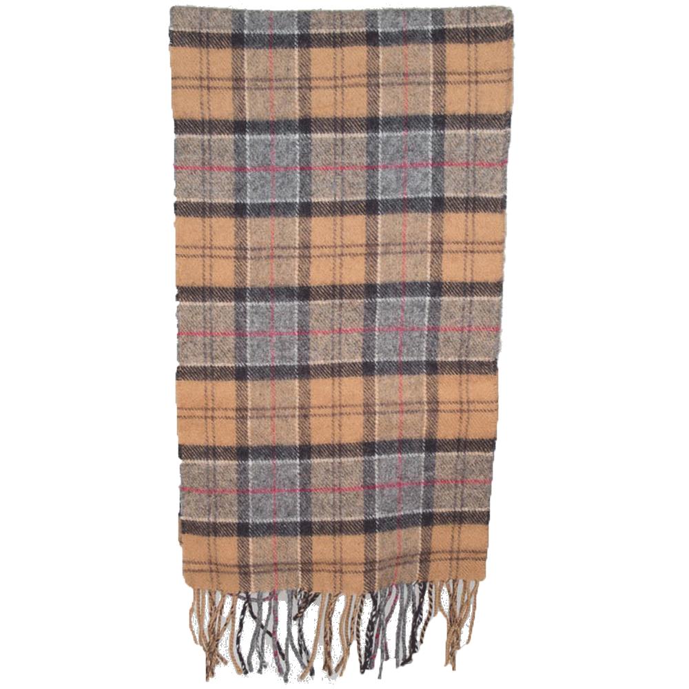 Tartan scarf lambswool dress