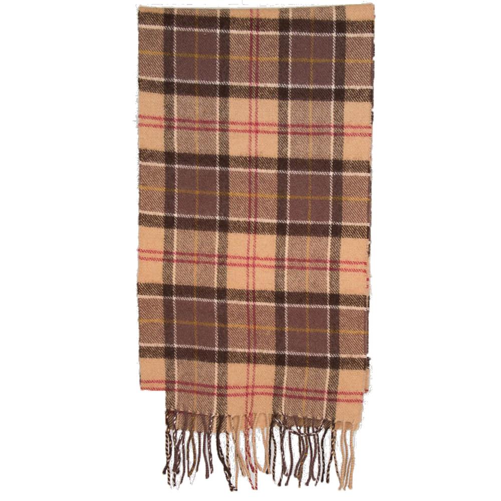 Tartan scarf lambswool muted