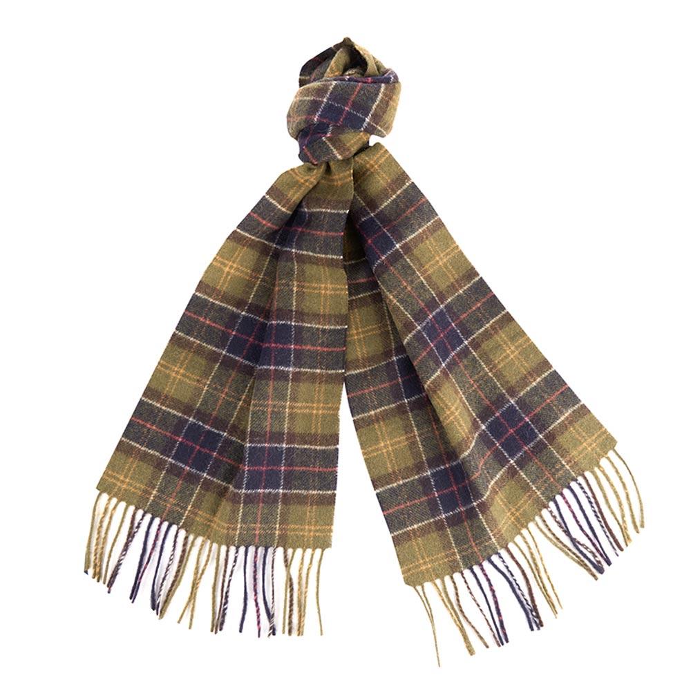Tartan scarf lambswool Seaweed tartan