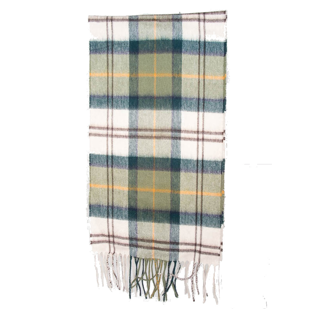 Tartan scarf merino/cashmere ancient