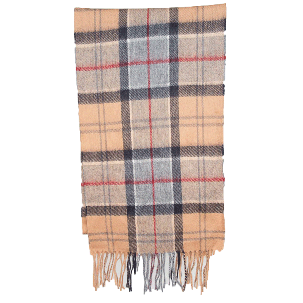 Tartan scarf merino/cashmere dress