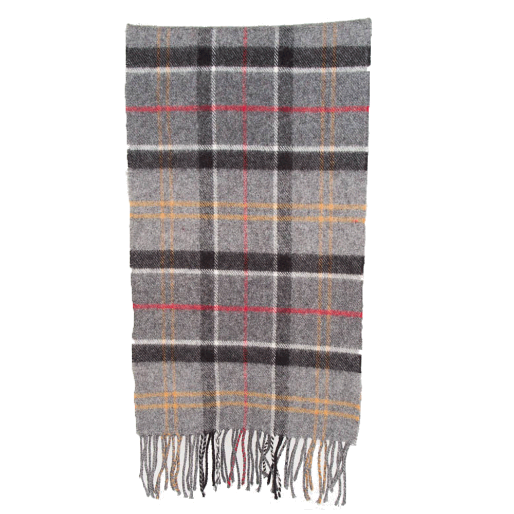 Tartan scarf merino/cashmere modern tartan