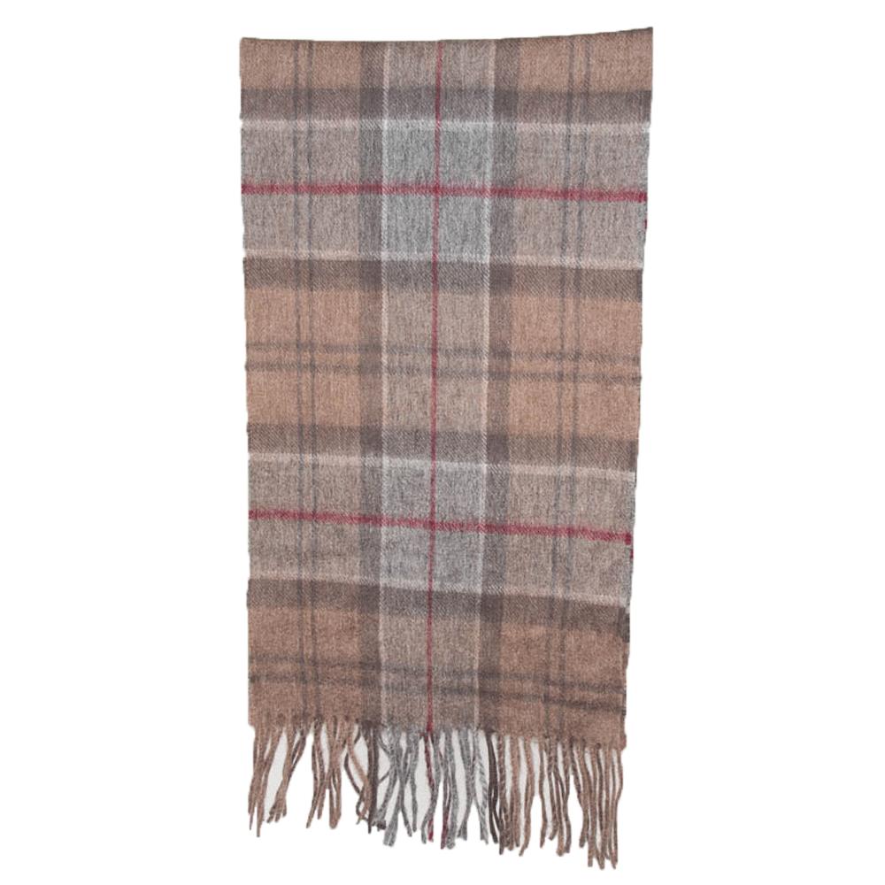 Tartan scarf merino/cashmere winter dress