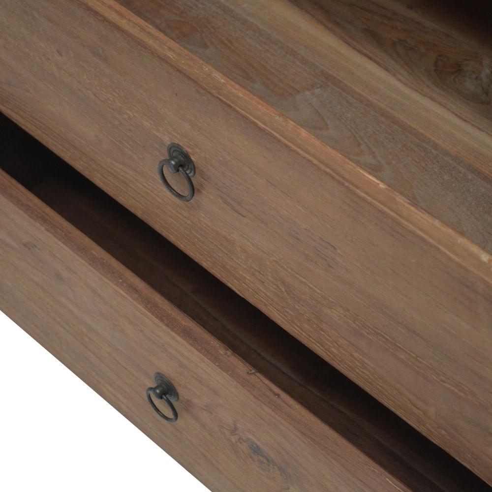 Teak TV-dressoir 4 laden