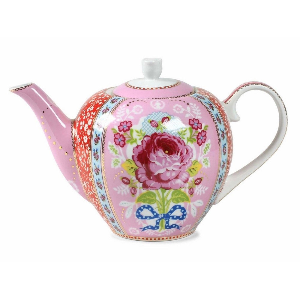 Theepot roos 1600 ml