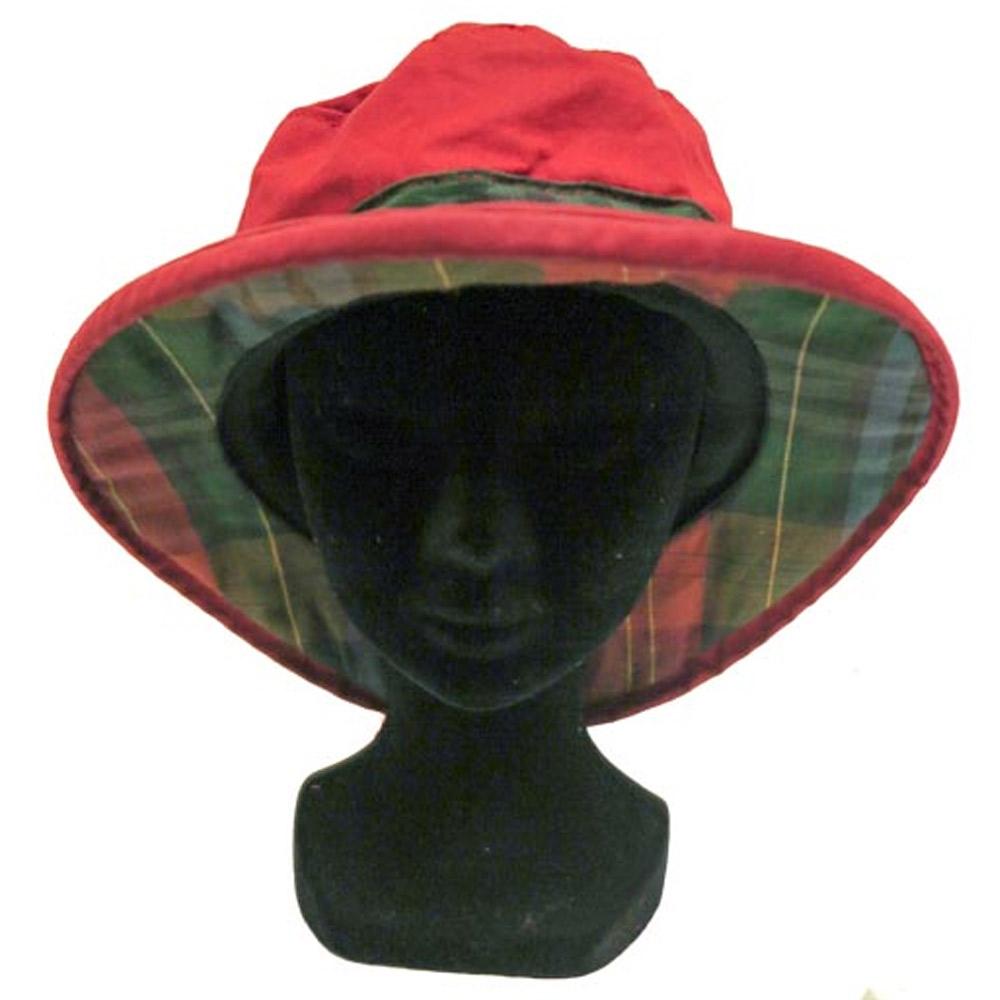 Thelma Wax Hoed Rood - Groen