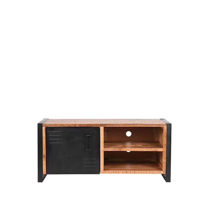 Tv-meubel Brussels - Rough - Mangohout - 115 cm
