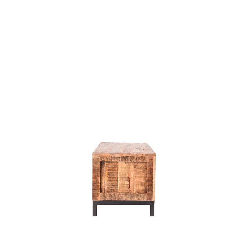 Tv-meubel Ghent - Rough - Mangohout - 120 cm