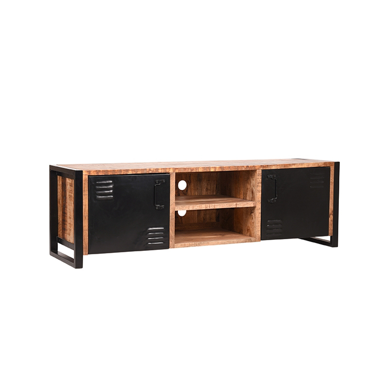 Tv-meubel Brussels - Naturel - Mangohout - 160 cm
