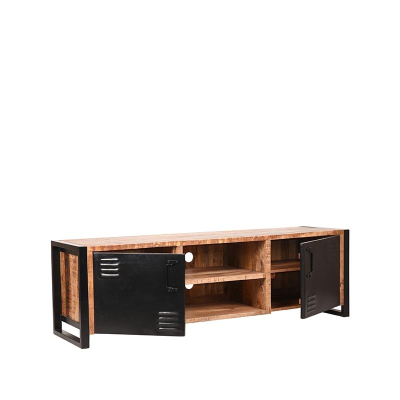 Tv-meubel Brussels - Naturel - Mangohout - 160 cm