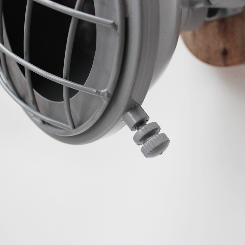 Wandlamp Grid - Grijs - Metaal