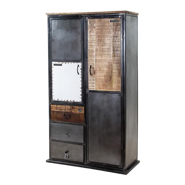 Vintage kabinet 2 deuren en 3 laden