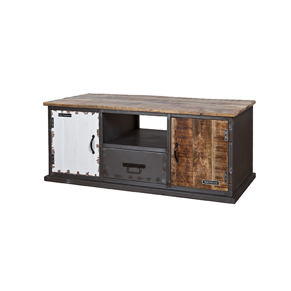 Vintage tv-dressoir 2 deuren en 1 lade