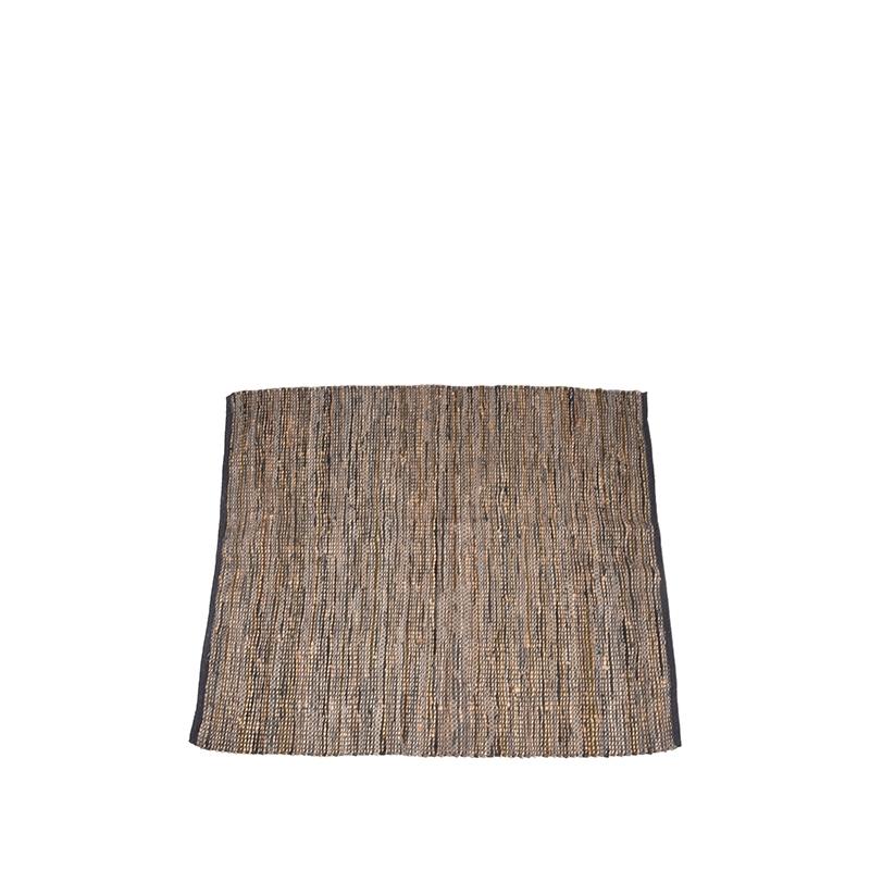 Vloerkleed Brisk - Antraciet - Natuurlijk materiaal - 160x140 cm