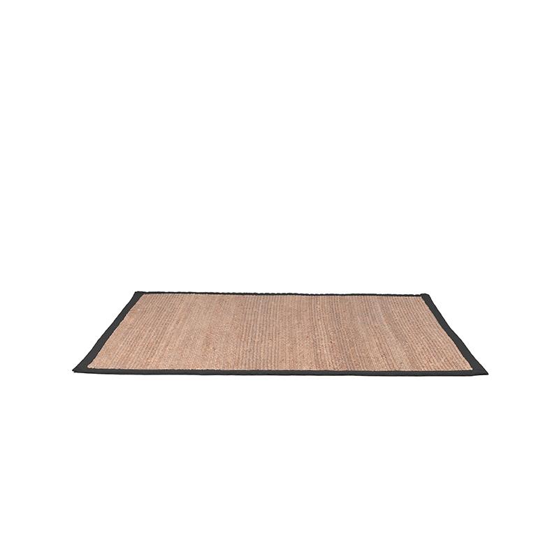 Vloerkleed Jute - Zwart - Jute - 230x160 Cm