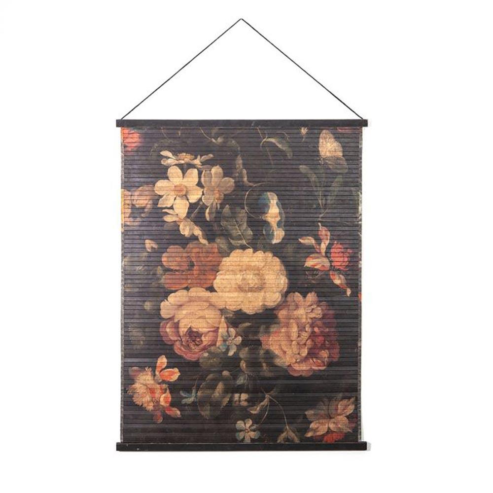 Wanddecoratie Miyagi flowers S