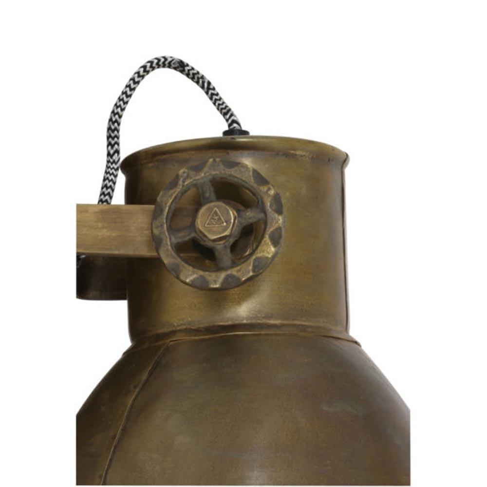 Wandlamp Elay hout antiek brons