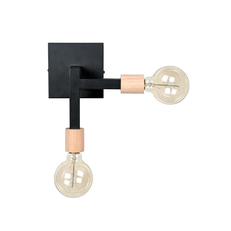 Wandlamp Loco - Zwart - Metaal