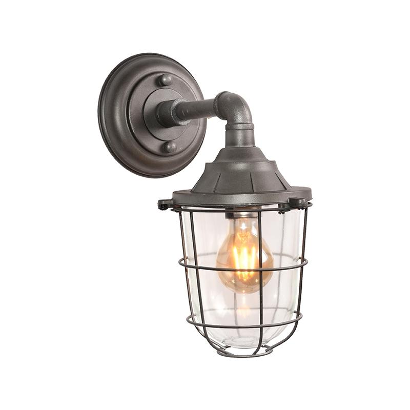 Wandlamp Seal - Burned Steel - Metaal