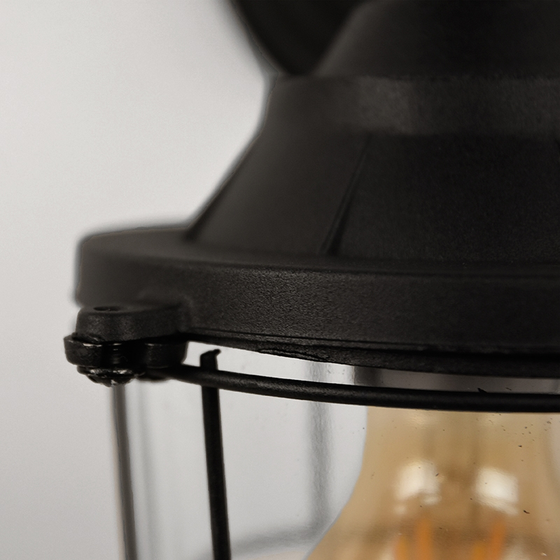 Wandlamp Seal - Zwart - Metaal