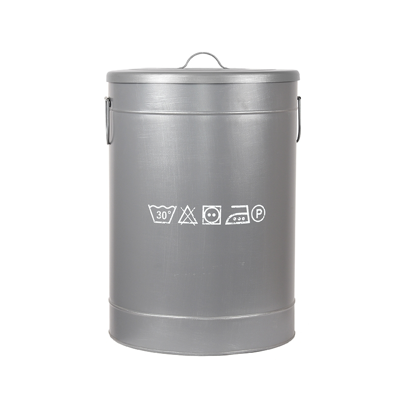 Opbergblik Wasmand - Grijs - Metaal - L