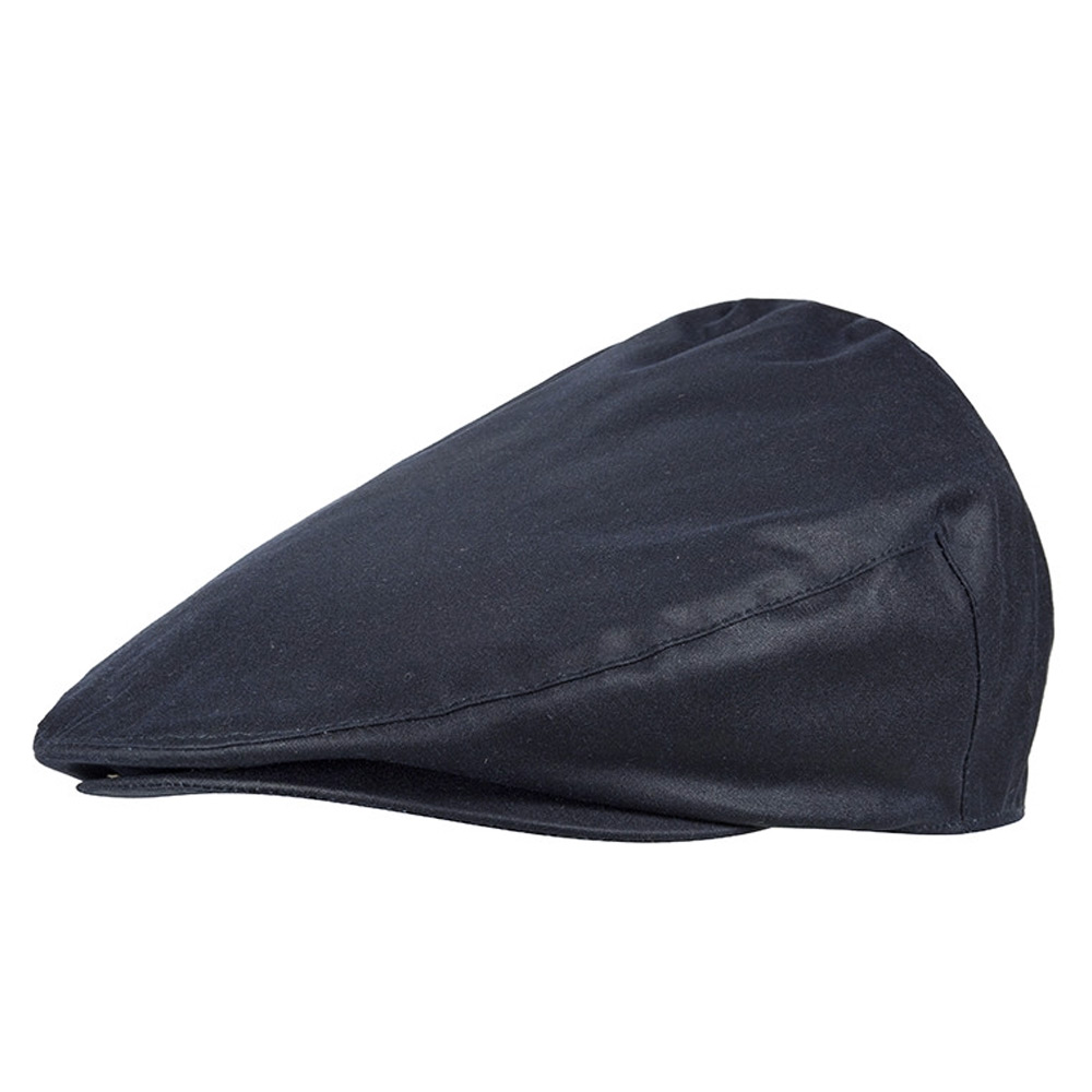 Wax Flat Cap Navy
