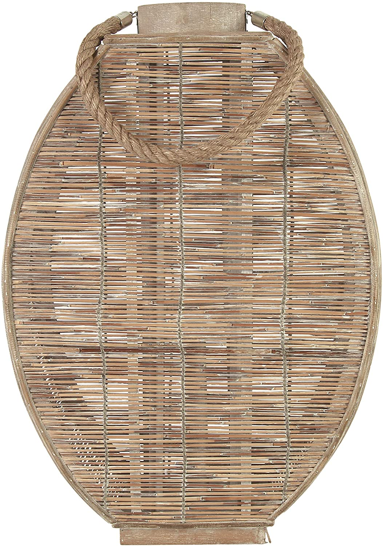 windlicht Bamboe ovaal L