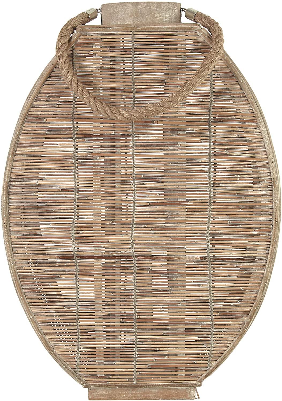 Windlicht Bamboe Ovaal M